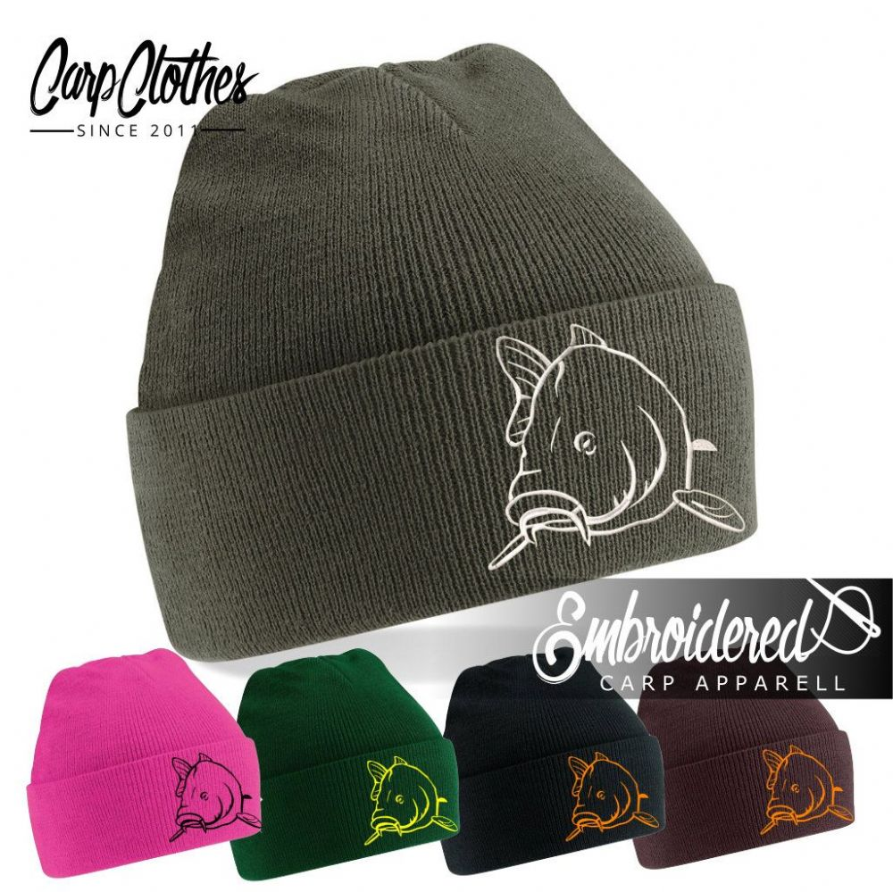 004 EMBROIDERED CARP BEANIE